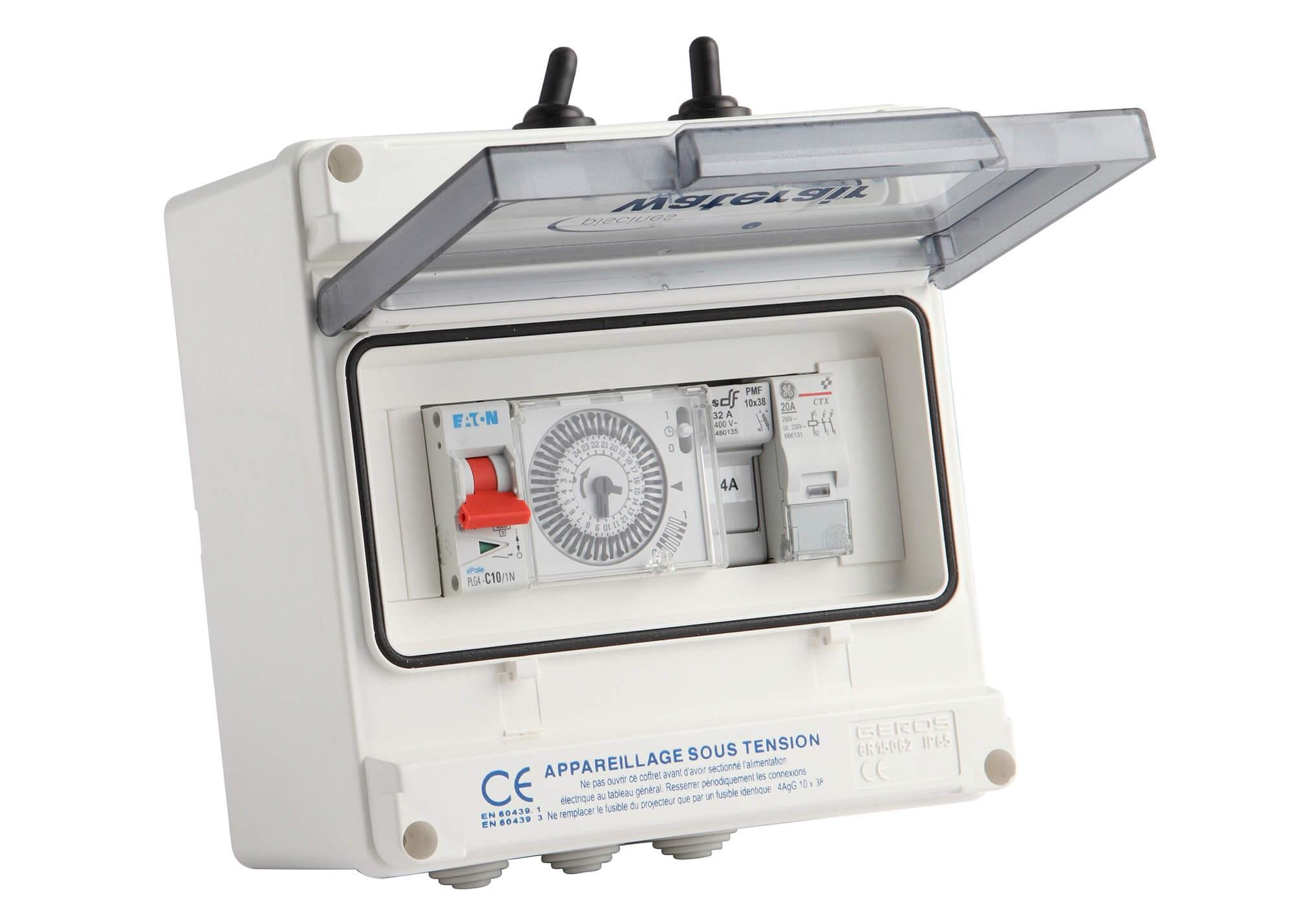 Coffret de filtration 2 pour filtration classique - Coffret filtration piscine ...