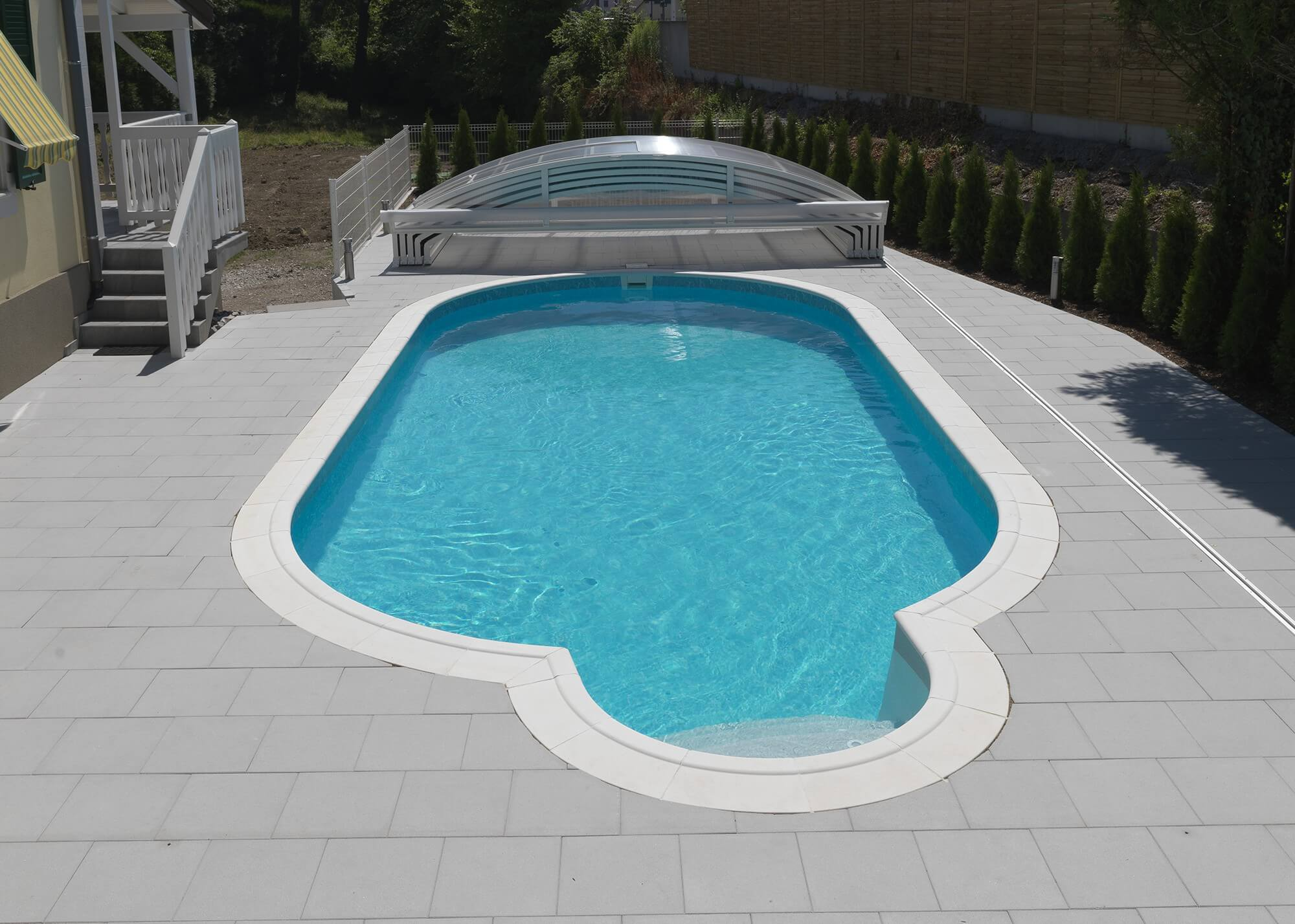 abri t u00e9lescopique pour piscine