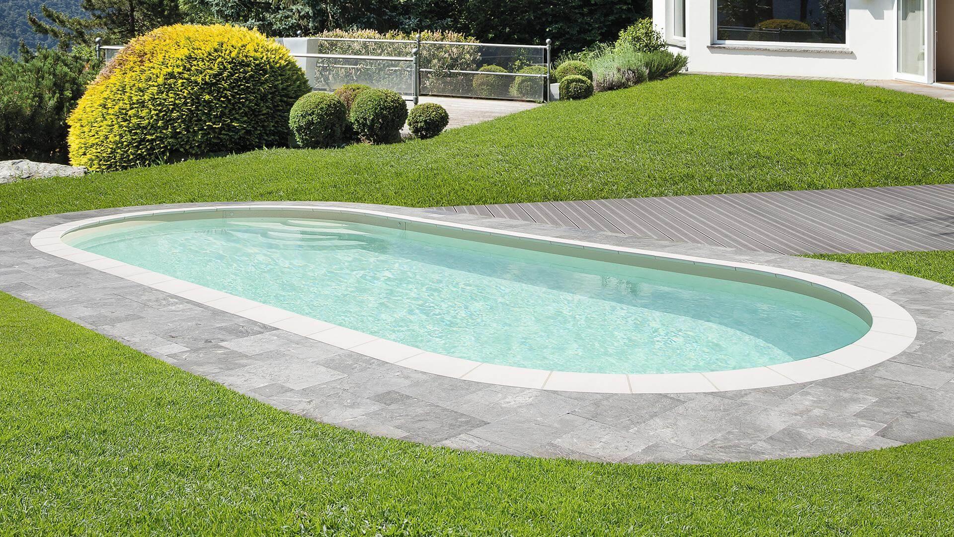 Ovaler Pool Elsa – ein Pool mit zeitlosem Design